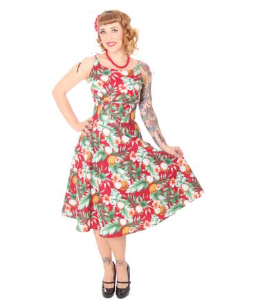 SugarShock Aloma Hawaii 50s retro Swing Kleid – Bild 11