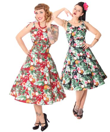 SugarShock Aloma Hawaii 50s retro Swing Kleid – Bild 1