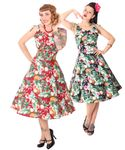 SugarShock Aloma Hawaii 50s retro Swing Kleid 001