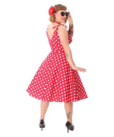 SugarShock Aloma 50s retro Sommerkleid Polka Dots Swing Kleid – Bild 5