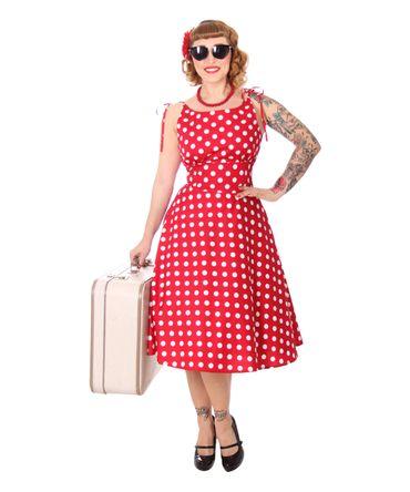SugarShock Aloma 50s retro Sommerkleid Polka Dots Swing Kleid – Bild 1