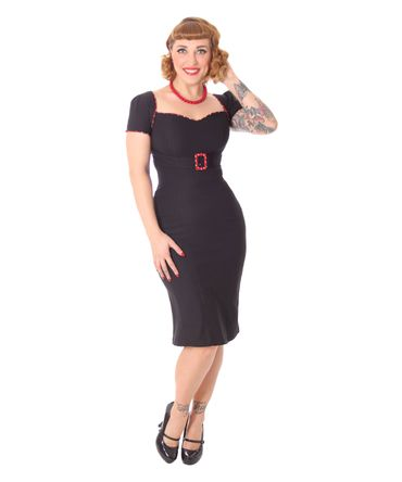 SugarShock Ywen 50er retro Fishtail Pencil Kleid schlicht – Bild 1
