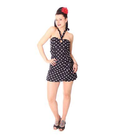 SugarShock Clara 50er retro Polka Dots  Jumpsuit  – Bild 2