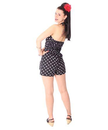 SugarShock Clara 50er retro Polka Dots  Jumpsuit  – Bild 6