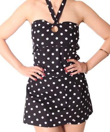 SugarShock Clara 50er retro Polka Dots  Jumpsuit  – Bild 4