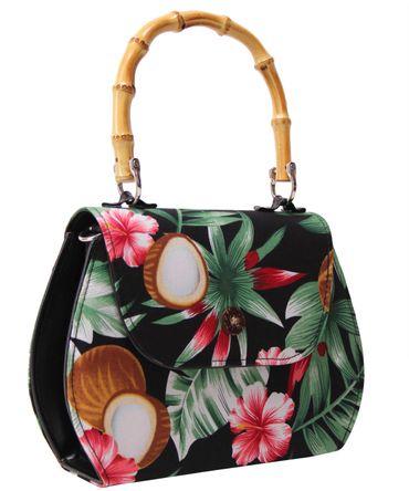 SugarShock Jacira 50s retro Bamboo Hawaii Handtasche – Bild 6