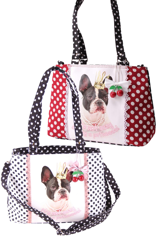 b62be4058bc57 SugarShock Panlu Polka Dots French Bulldog Handtasche Accessoires ...