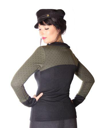 SugarShock Gabija Polka Dots 60s Style Longsleeve – Bild 4