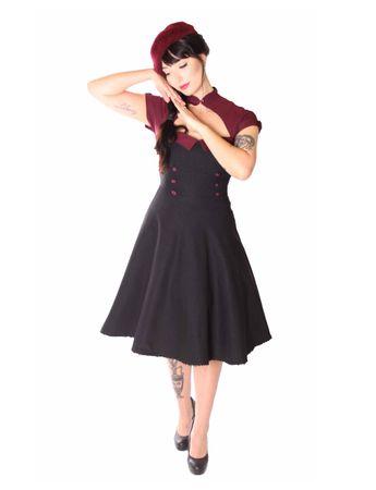 SugarShock Harbor 50s retro Petticoat Bolero Kleid – Bild 2