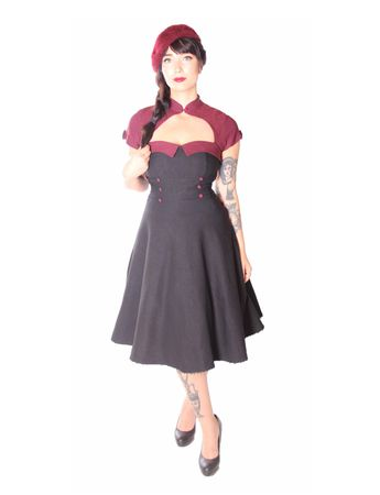 SugarShock Harbor 50s retro Petticoat Bolero Kleid
