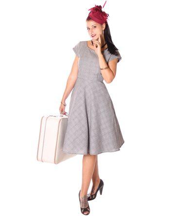 SugarShock Ninive 50s retro Houndstooth Petticoat Kleid  – Bild 1