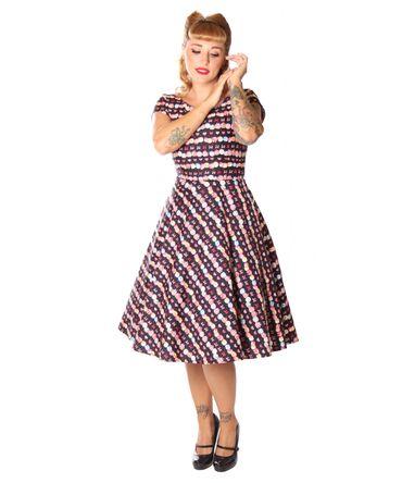 SugarShock Ninive Cupcake Macarons 50er repro Petticoat Kleid – Bild 1