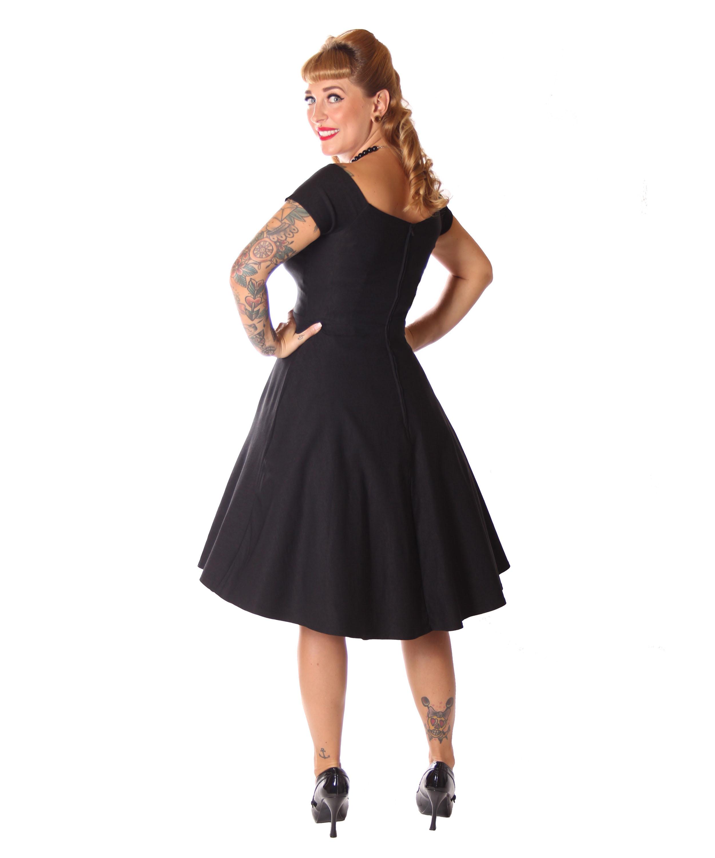 SugarShock Lubia 50er Jahre Petticoat Kleid m. Houndstooth ...