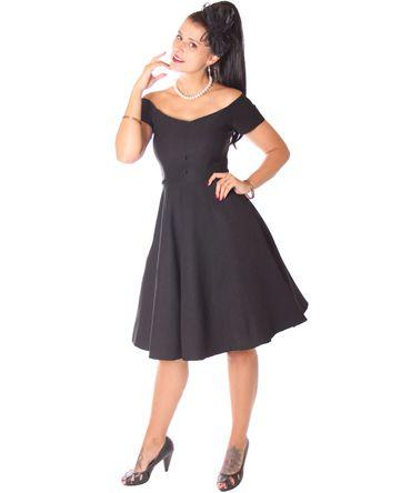 SugarShock Lubia 50er Jahre Petticoat Kleid m. Glitter Cape Umhang – Bild 3