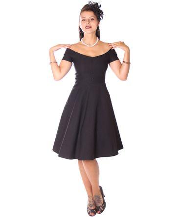 SugarShock Lubia 50er Jahre Petticoat Kleid m. Glitter Cape Umhang – Bild 4