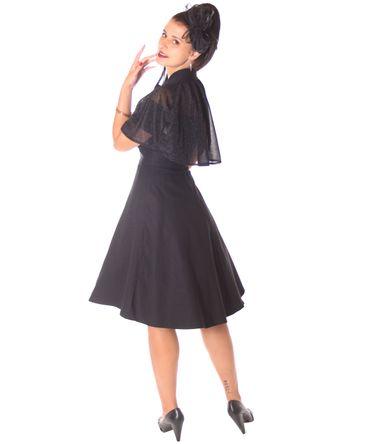 SugarShock Lubia 50er Jahre Petticoat Kleid m. Glitter Cape Umhang – Bild 9