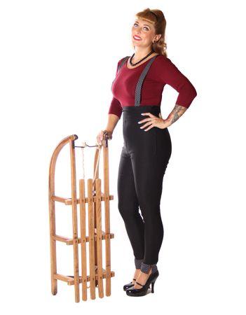SugarShock Caryl Polka Dots Suspender Skinny Hose  – Bild 5