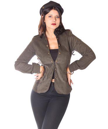 SugarShock Lumpini 50s retro Uniform style Blazer Cordjacke – Bild 10