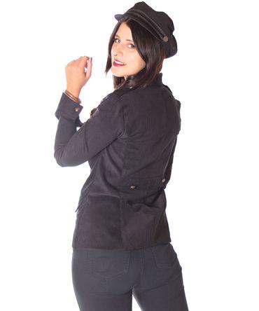 SugarShock Lumpini 50s retro Uniform style Blazer Cordjacke – Bild 6