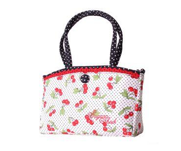 SugarShock Thaynara 2-tone Kirschen Polka Dots Handtasche klein – Bild 1