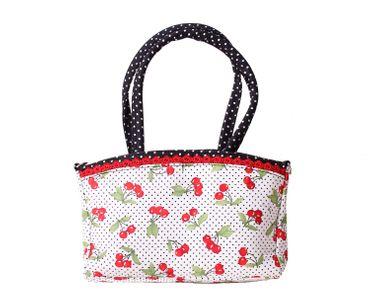 SugarShock Thaynara 2-tone Kirschen Polka Dots Handtasche klein – Bild 4