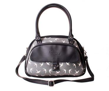SugarShock Sinaida Schwalben Shopper retro Handtasche – Bild 1