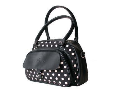 SugarShock Sinaida Polka Dots Shopper retro Handtasche – Bild 2
