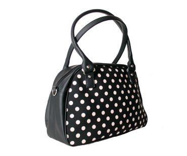 SugarShock Sinaida Polka Dots Shopper retro Handtasche – Bild 4