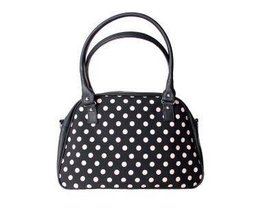 SugarShock Sinaida Polka Dots Shopper retro Handtasche – Bild 5