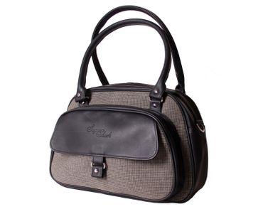 SugarShock Sinaida Glencheck Pepita Shopper retro Handtasche – Bild 1