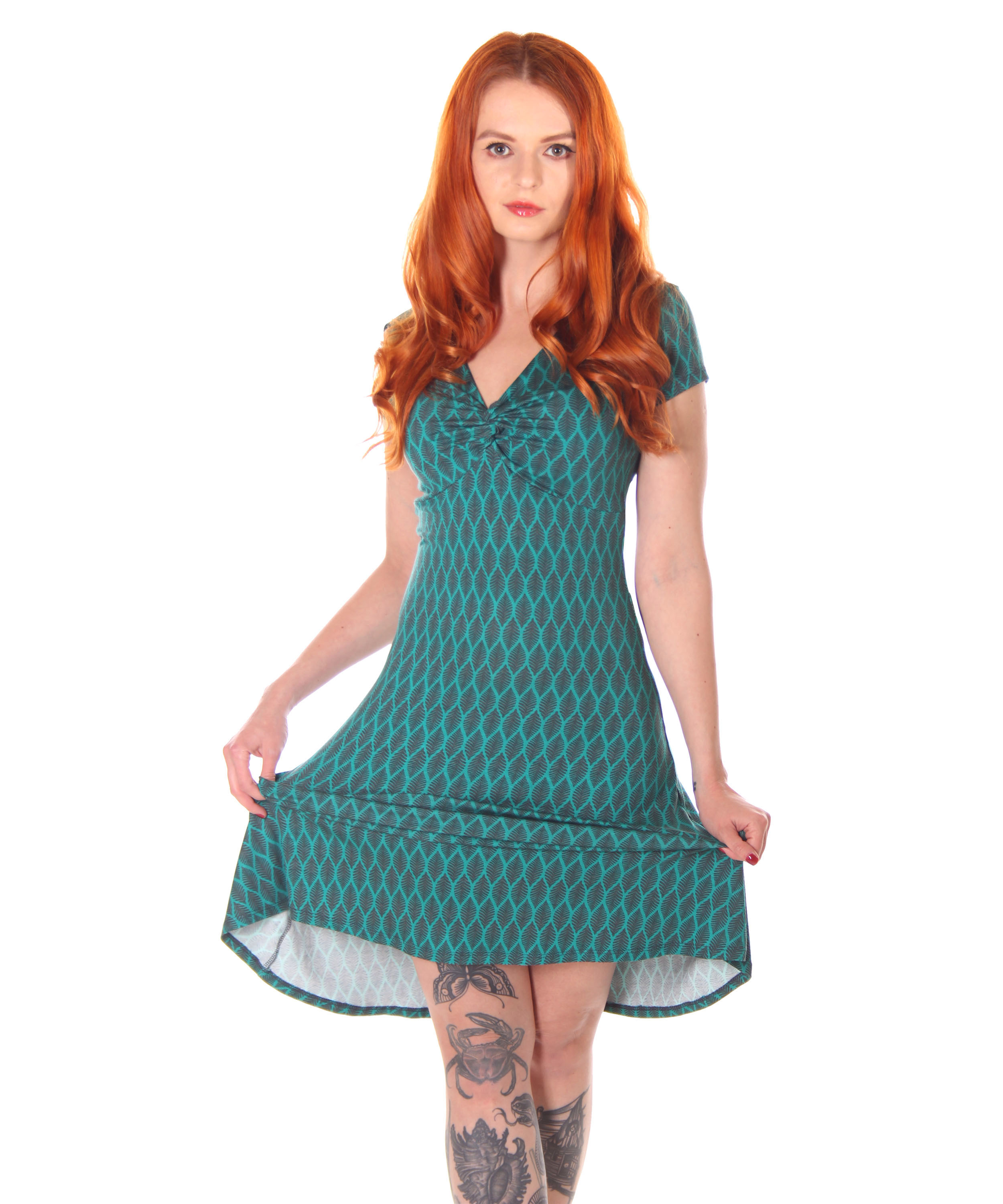 SugarShock Yayla 14er retro Style Sommer Kleid A-Linie  Suicide Glam