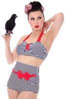 JOLANTA 50er Jahre retro Streifen Sailor Pin Up Bow Rockabilly Bikini