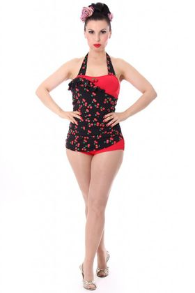 LIANA 50s retro Pin Up Cherry Kirschen Rockabilly Badeanzug Swimsuit – Bild 4
