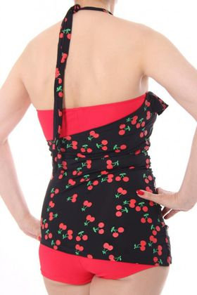LIANA 50s retro Pin Up Cherry Kirschen Rockabilly Badeanzug Swimsuit – Bild 7