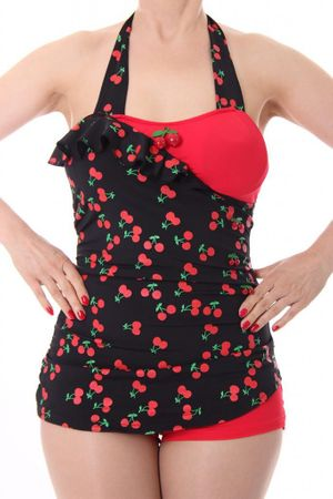 LIANA 50s retro Pin Up Cherry Kirschen Rockabilly Badeanzug Swimsuit – Bild 5
