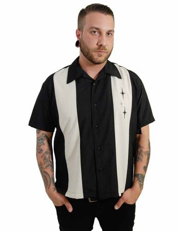 ST. PIERRE 3 Star Panel Loungeshirt Casino Shirt  – Bild 2