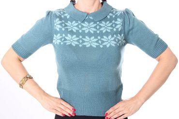 SCARLETT 50s retro Jumper Strick Pullover Shirt – Bild 2