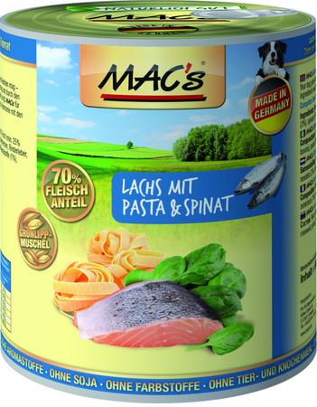 MACs Dog Lachs mit Pasta & Spinat 800 g VE 6x