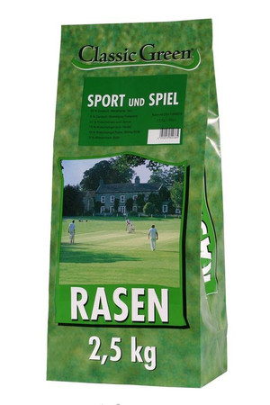 Classic Green Rasen Sport & Spiel Plastikbeutel 2,5kg VE 4x
