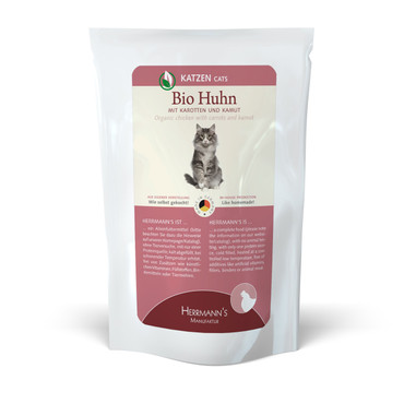 Herrmanns Cat FB Bio-Huhn, Karotte & Kamut 100g VE 20x