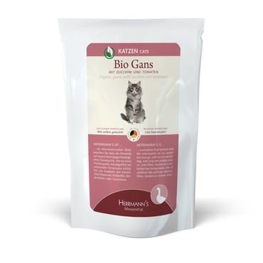 Herrmanns Cat FB Bio-Gans, Zucchini & Tomate 100g VE 20x