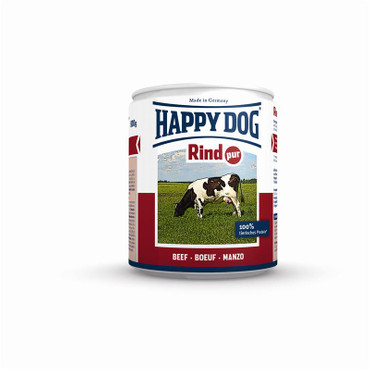 12x Happy Dog Dose Rind Pur 400g – Bild 2