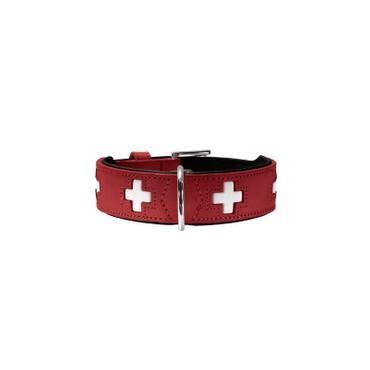 Hunter Halsband Swiss 50 rot/schwarz 35 - 43 cm / 39 mm