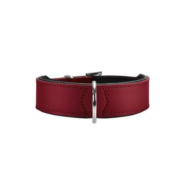 Hunter Halsband Basic 42 rot/schwarz 35 - 39,5 cm / 26 mm