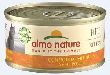 Almo Nature HFC Natural Kitten Huhn 70g VE 24x