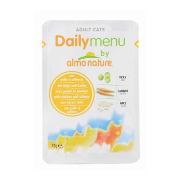 Almo Nature PFC Daily Menu Huhn & Lachs 70g VE 30x