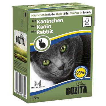 Bozita Cat Tetra Recard Häppchen in Soße Kaninchen 370g VE 16x