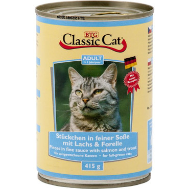 Classic Cat Dose Soße mit Lachs & Forelle 415g VE 12x