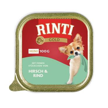 Rinti Schale Gold Mini Hirsch & Rind 100g VE 16x