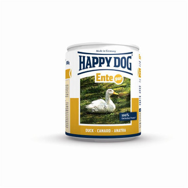 12x Happy Dog Ente Pur Dose 200g – Bild 1